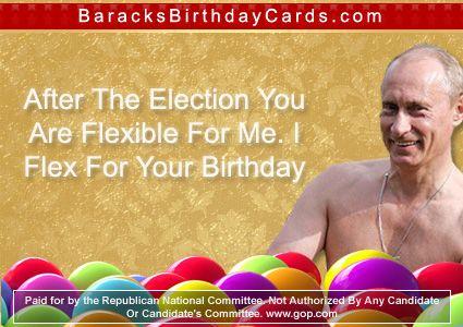 Vladimir Putin Barack Obama Birthday Cards Pinterest Vladimir