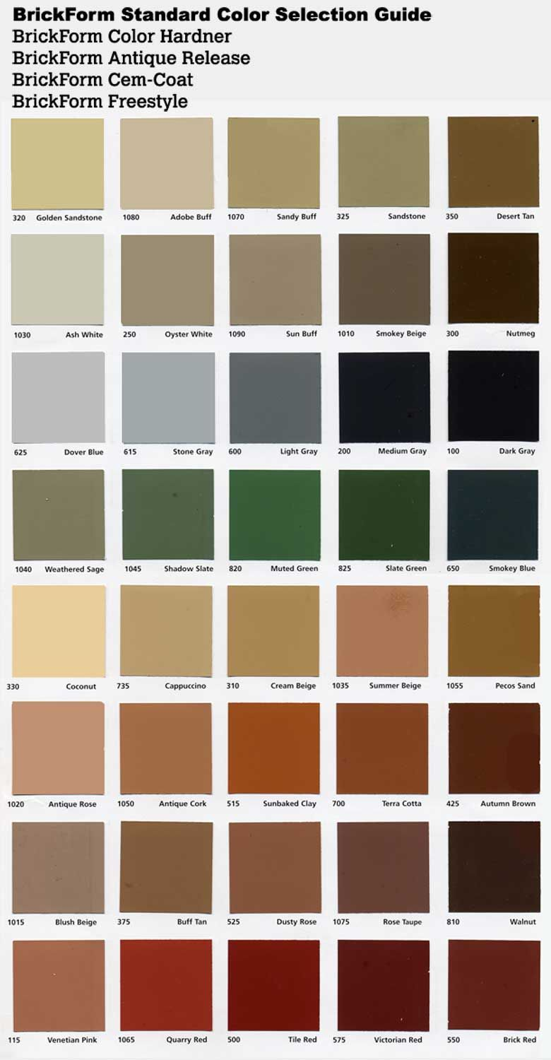 Color Release Samples Chart Outdoors Pinterest Exposed
