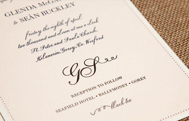Amazing Formal Attire Wedding Invitations Ideas | Wedding invitation wording examples. Wedding invitation wording. Formal wedding invitations