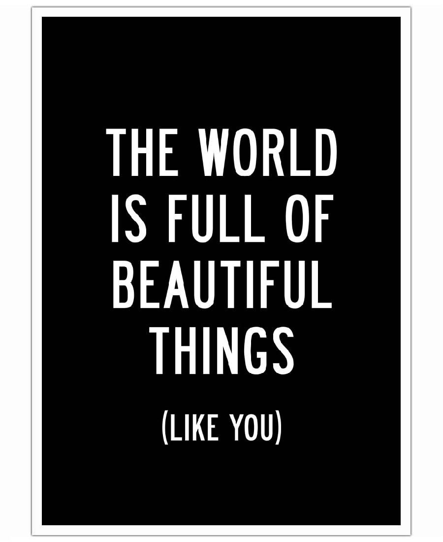 The World is Full of Beautiful Things-Poster