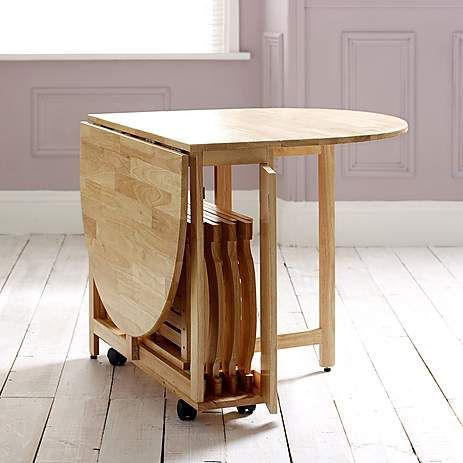 Rubberwood Butterfly Table with 4 Chairs | Dunelm in 2019 ...
