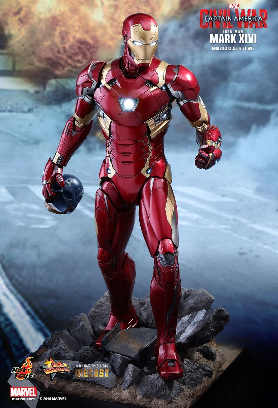 Hot Toys Captain America Civil War Iron Man Mark Xlvi 1 6th