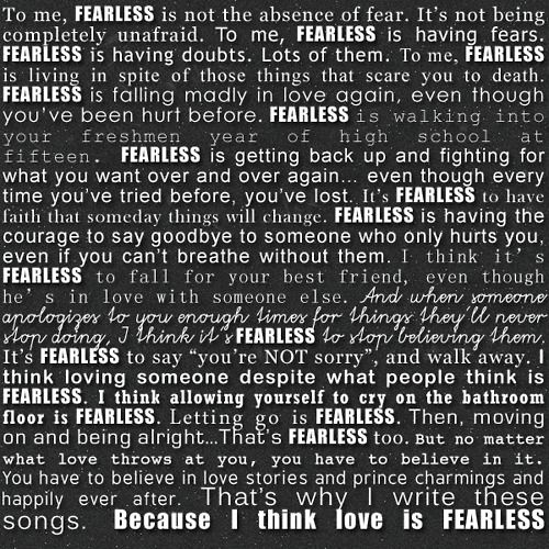 Fearless Taylor Swift Quote Taylor Swift Quotes Fearless Quotes
