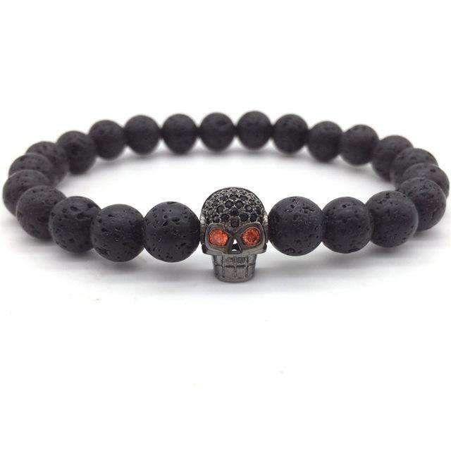 Ground Rock Skull Bracelet