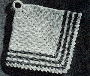 Vintage Diamond Potholder Free Crochet Patterns Crafts Crochet