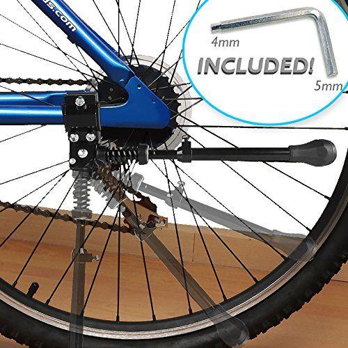 Bike Cargo Racks Kseven Bicycle Kickstand Black Adjustable Ultra