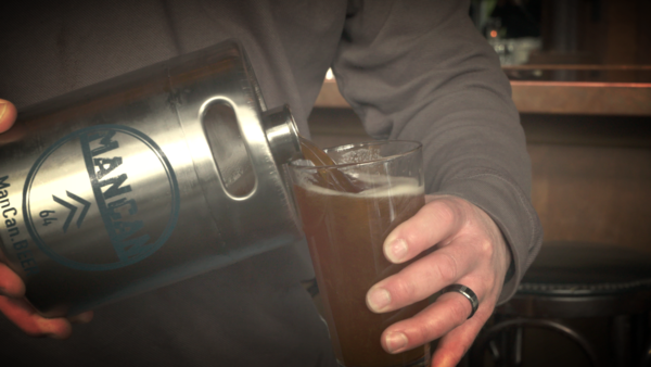 The ManCan is a personal keg system that keeps your favorite beer fresh, carbonated, and delicious