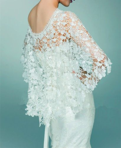 2015 Wedding New Top lace tulle bridal shawl wrap stole shrug bolero ...