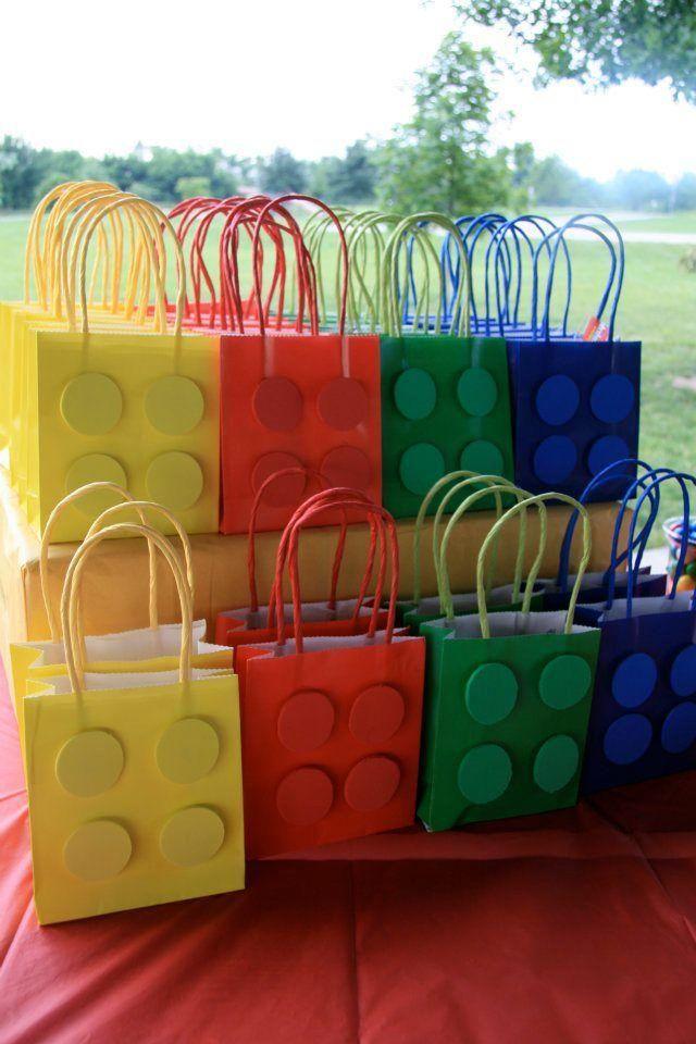 Ideas de bolsas para fiestas infantiles, ¡no pueden faltar! Lego - Ideas Para Fiestas Infantiles