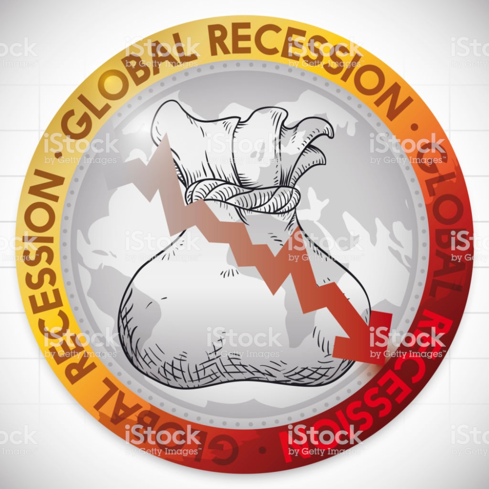 Illustrative Round Button With Globe Money Bag Draw And Red Arrow Free Vector Art Drawing Bag Money Bag