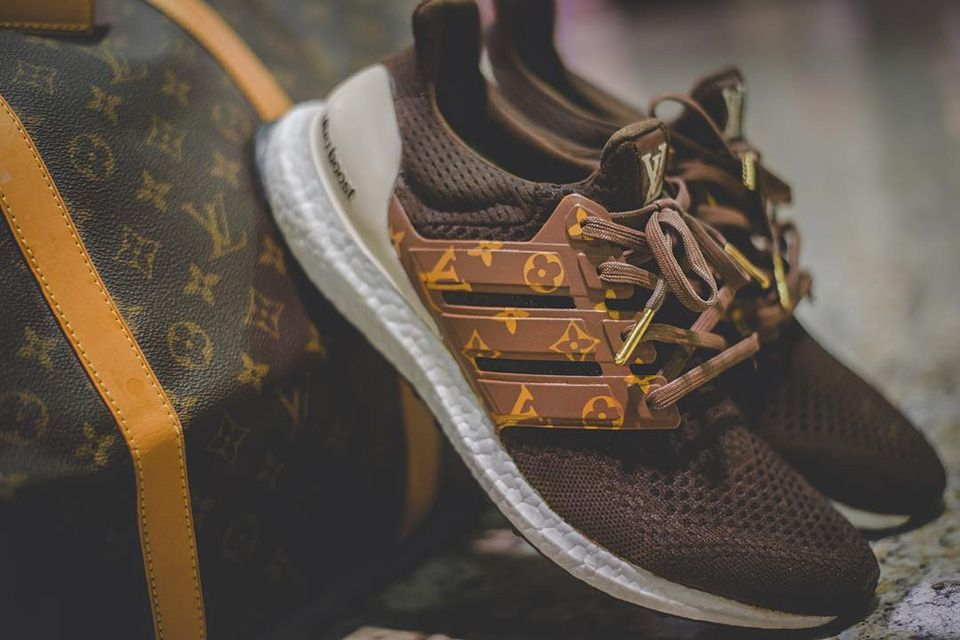 a375f5bf The latest in a growing list of customized sneakers, Instagram user  DentKicksCustomizer's Louis Vuitton Ultra Boost takes opulence to the next  level.