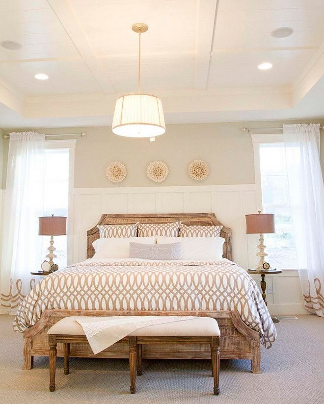Master Bedroom Tray Ceiling Designs: Bedroom Tray Ceiling, Similar Wall Paint Color Is Repose