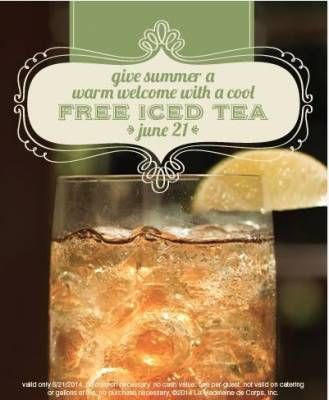 Free Iced Tea At La Madeleine Country French Cafe Iced Tea French Cafe Free Tea