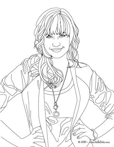 Demi Lovato Posing Coloring Page More Famous People Coloring Sheets On Hellokids Com Colouring Pages Coloring Pages People Coloring Pages