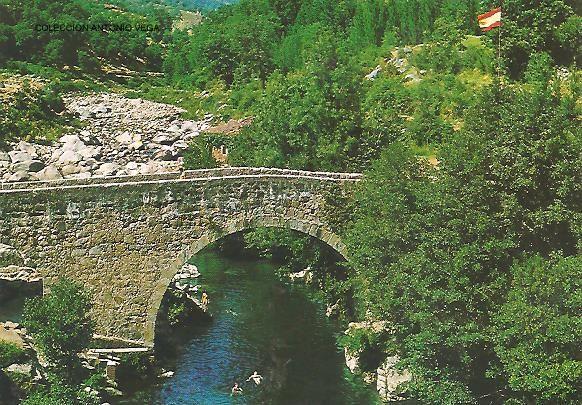 Losar De La Vera 1969 Puente Romano Sobre La Garganta De Cuartos