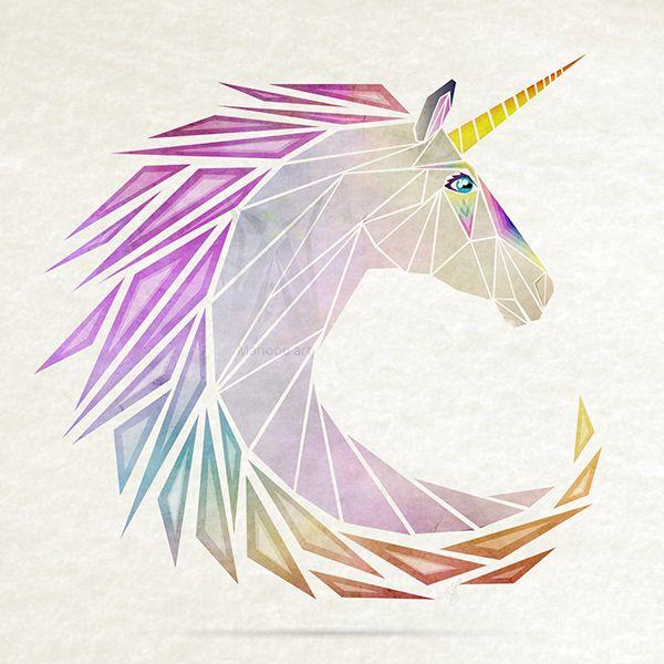 Unicorn Unicorn Logo Geometric Drawing Unicorn Drawing