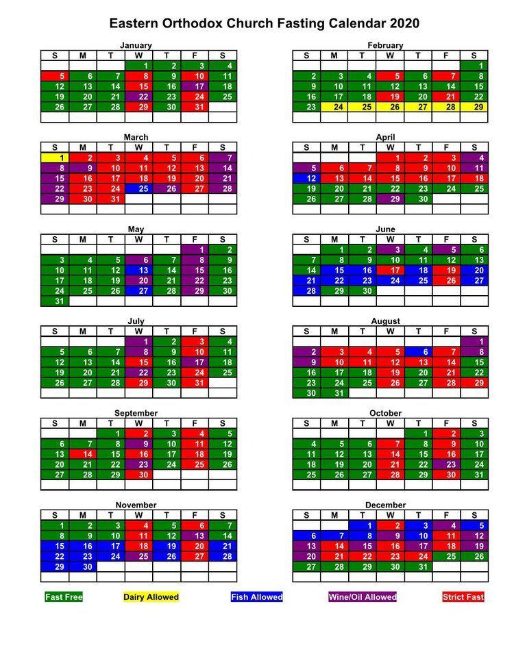 Eastern orthodox fasting calendar st basil the great