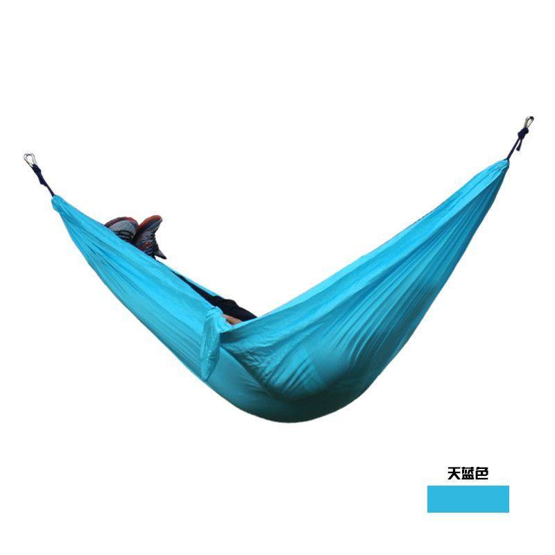 Yard. Best Parachute Double Hammock For Backpacking Beach Camping Travel Double Camping Hammock Nylon Portable Hammock