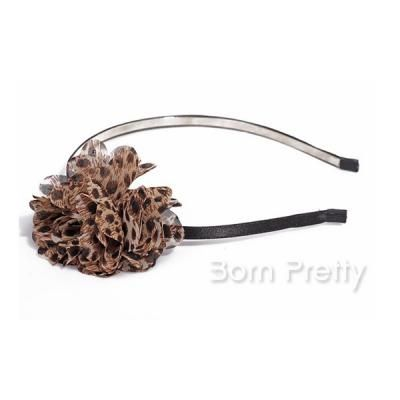 $ 1,69 Leopard Chiffon Tecido Acessórios Flor Hairpin Cabelo Hoop Headband cabelo - BornPrettyStore.com