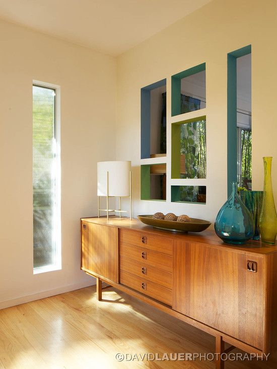This so what I would like for my dinning room!! Mid Century Modern Kitchen Design