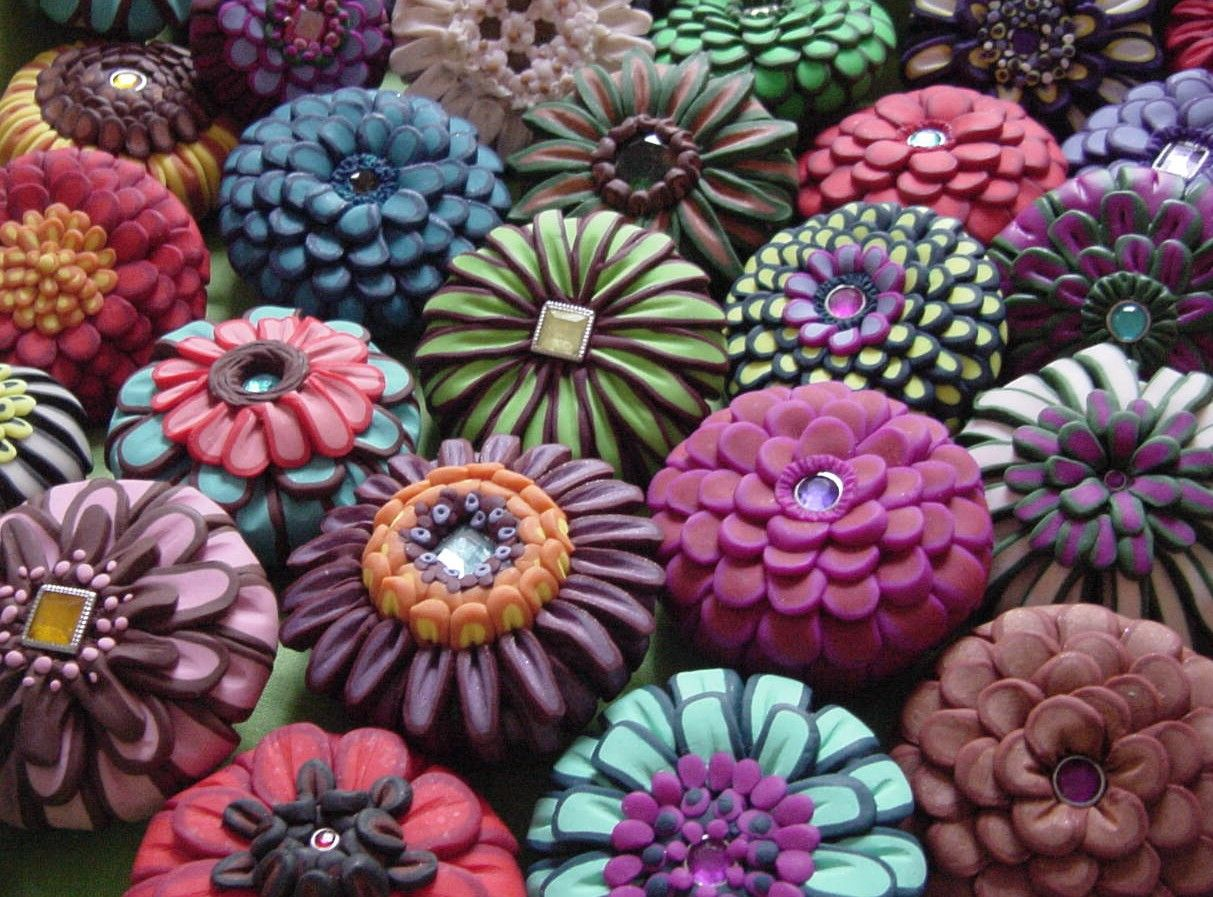 Polymer clay drawer pulls