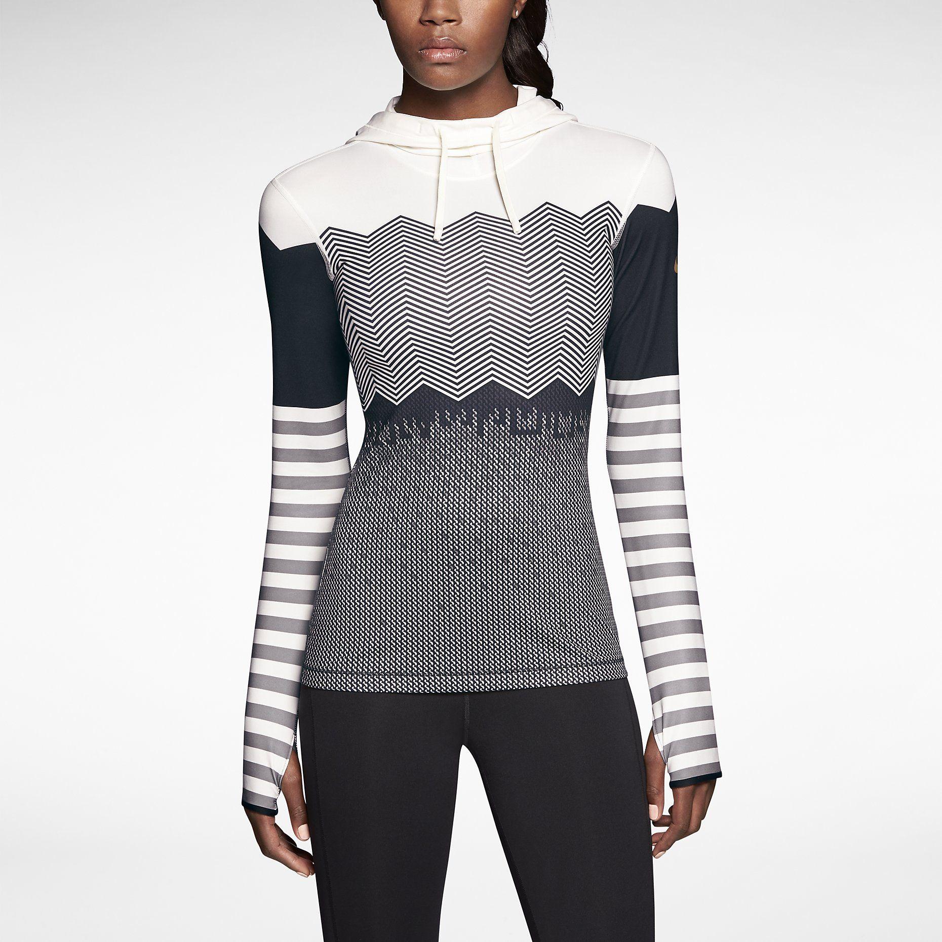 Nike Pro Hyperwarm Engineered Print Women s Training Hoodie. Nike ... c98da46f1c23a