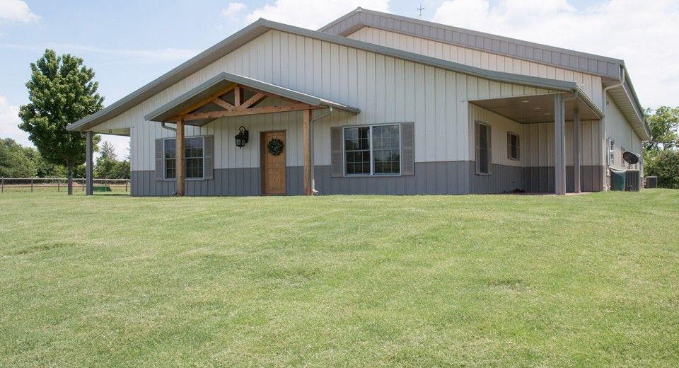 Morton Buildings Hobby Garage In Broken Arrow Oklahoma Wife Persuasion Metal Building Homes Metal Buildings Building A House