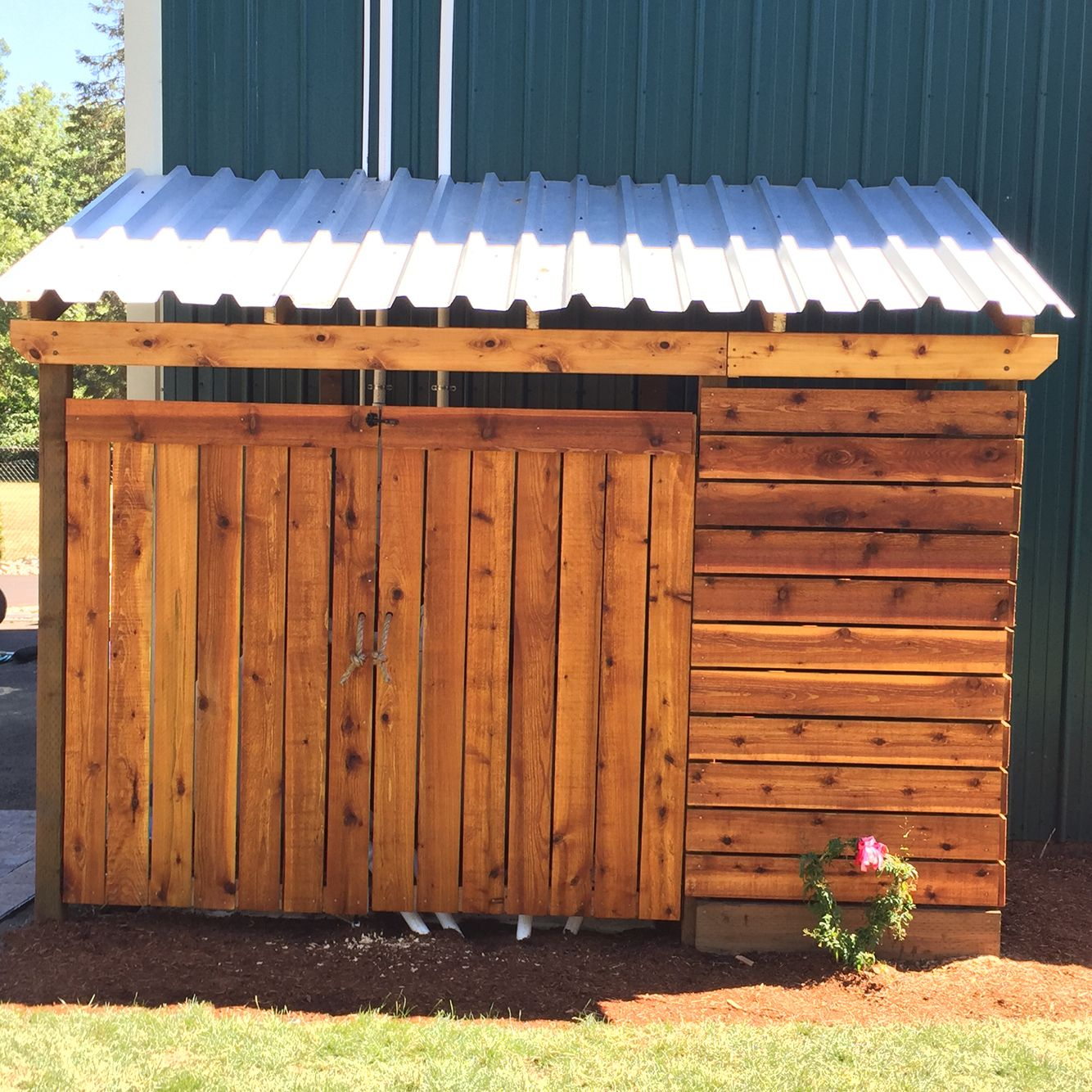 A Nice Way To Hide Your Swimming Pool Pumps Garbage Cans Or Yard Furniture A Cedar Outbuilding