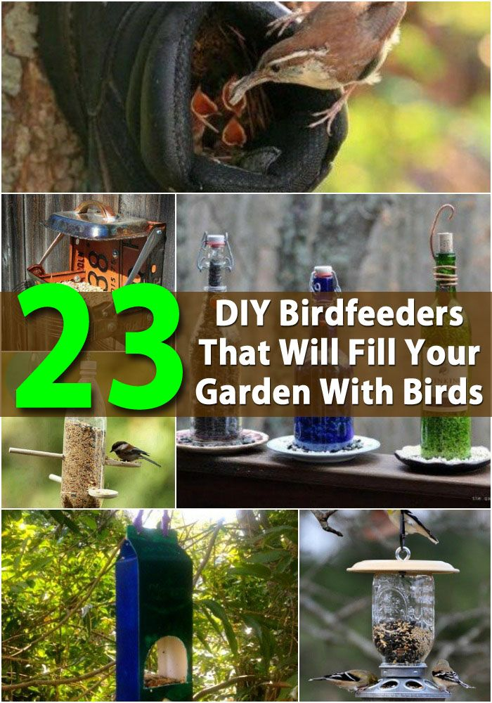 DIY 23 Projets pour les oiseaux. (23 DIY Birdfeeders That Will Fill Your Garden With Birds) (http://www.diyncrafts.com/3515/home/23-diy-birdfeeders-will-fill-garden-birds)