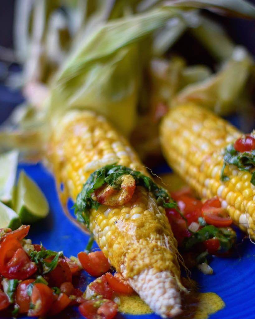 Crunchy Corn   Creamy Tomato Basil Salsa