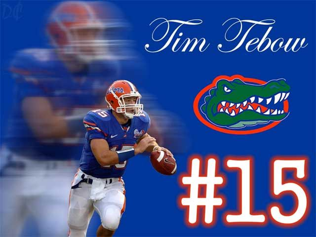 Florida Gator 15 Tim Tebow Wallpaper Florida Gators Football Florida Gators Gators Football