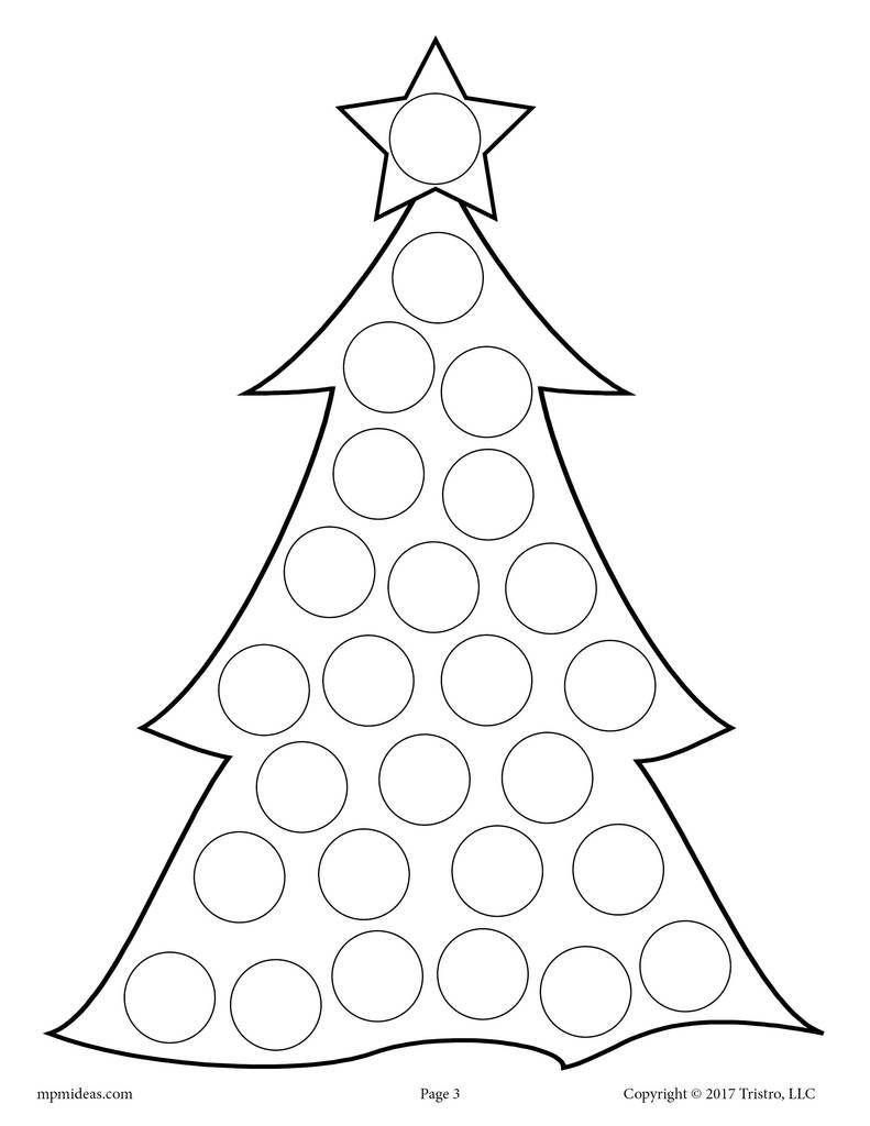 10 Christmas Do A Dot Printables Craftsfortoddlers Preschool Christmas Winter Crafts Do A Dot