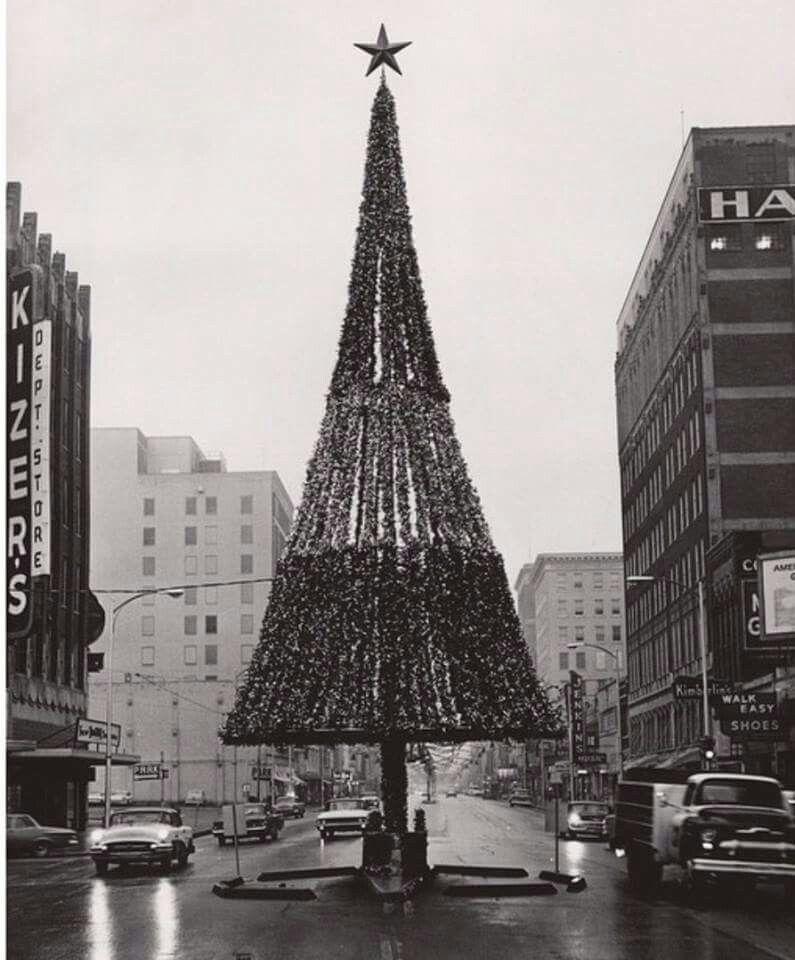 Oklahoma City 1961 Christmas Travel Usa Downtown Okc Oklahoma City