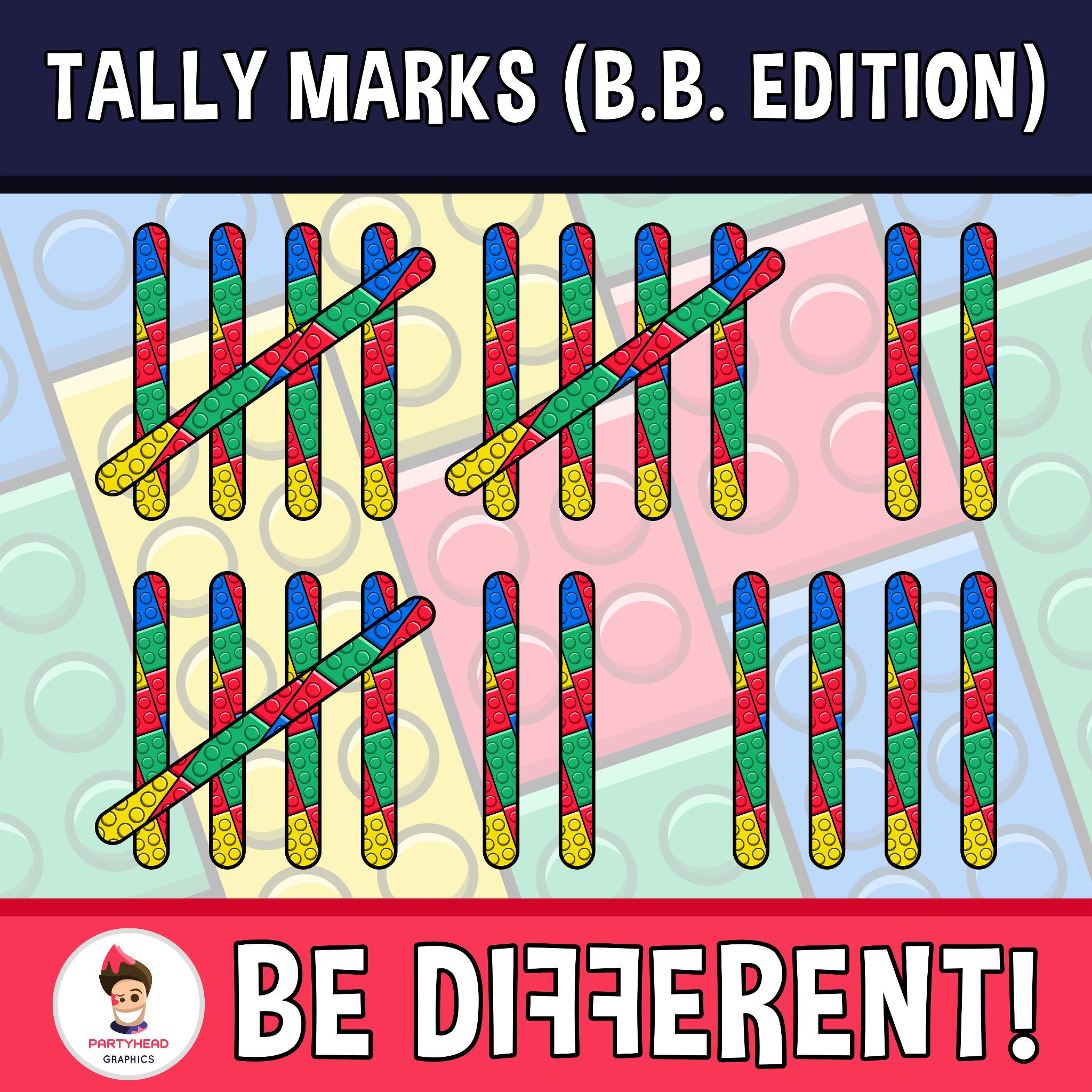 Tally Marks Clipart Building Bricks Edition Clip Art Tally Marks Marks