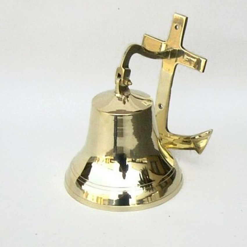 Captjimscargo Solid Br Ships Bell 6 Anchor Bracket Nautical Decor Http