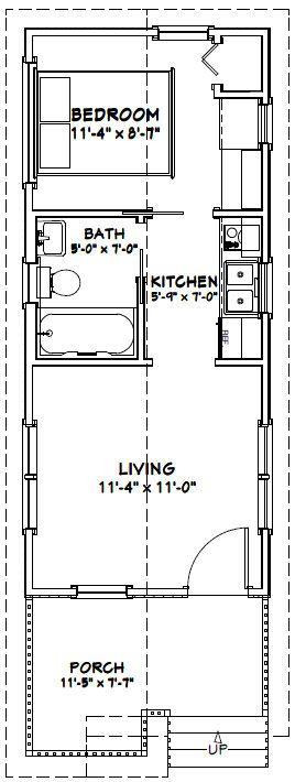12x28 1 Bedroom House -- #12X28H1 -- 336 sq ft - Excellent Floor