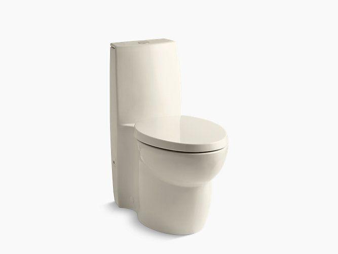 Kohler K 3564 Saile One Piece Compact Elongated Dual Flush Toilet