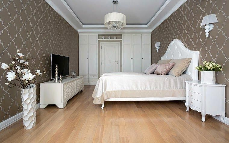 classic bedroom ideas - combination of white furniture and brown
