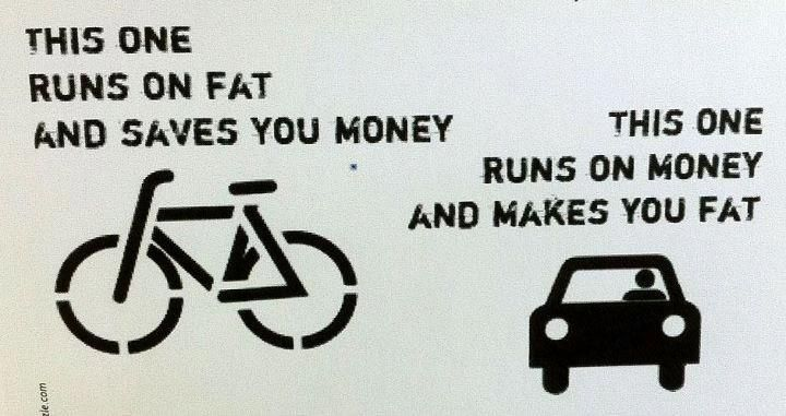 go by bicycle