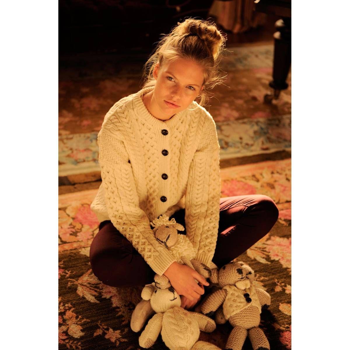 Carraig Donn Aran Lumber Ladies Jacket. Gorgeous Irish Knitwear that will  ship to Canada. da6e6919d