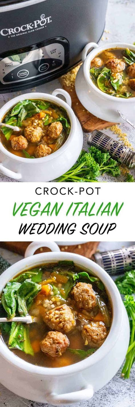 Vegan Italian Wedding Soup CrockPot Recipe The Edgy