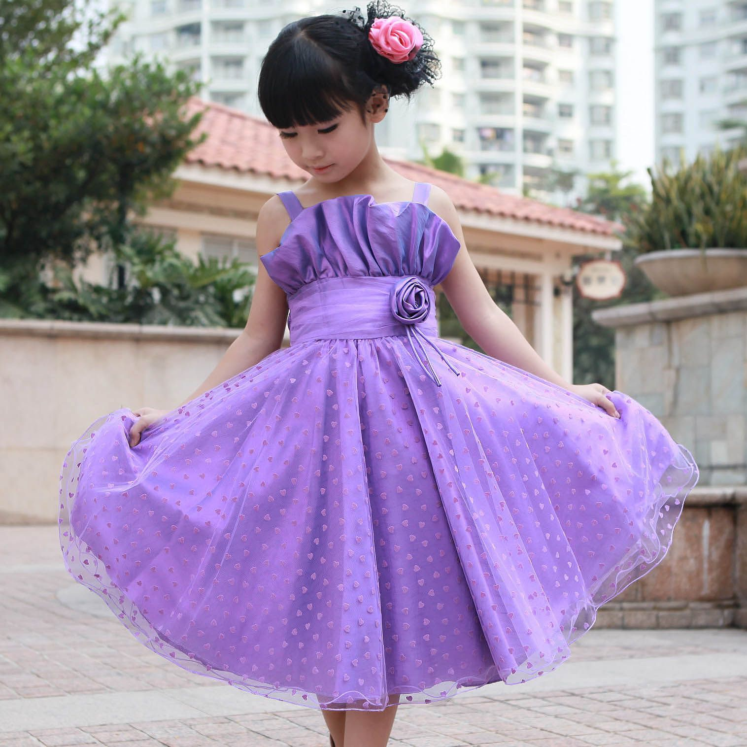 Wedding Dresses For Childrens In : Black girls in lavender wedding dresses