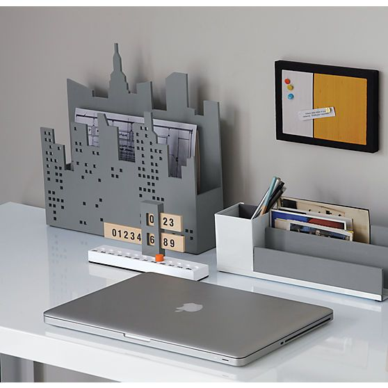 Mixed Desk Accessories In Office Accessories Cb2 With Images