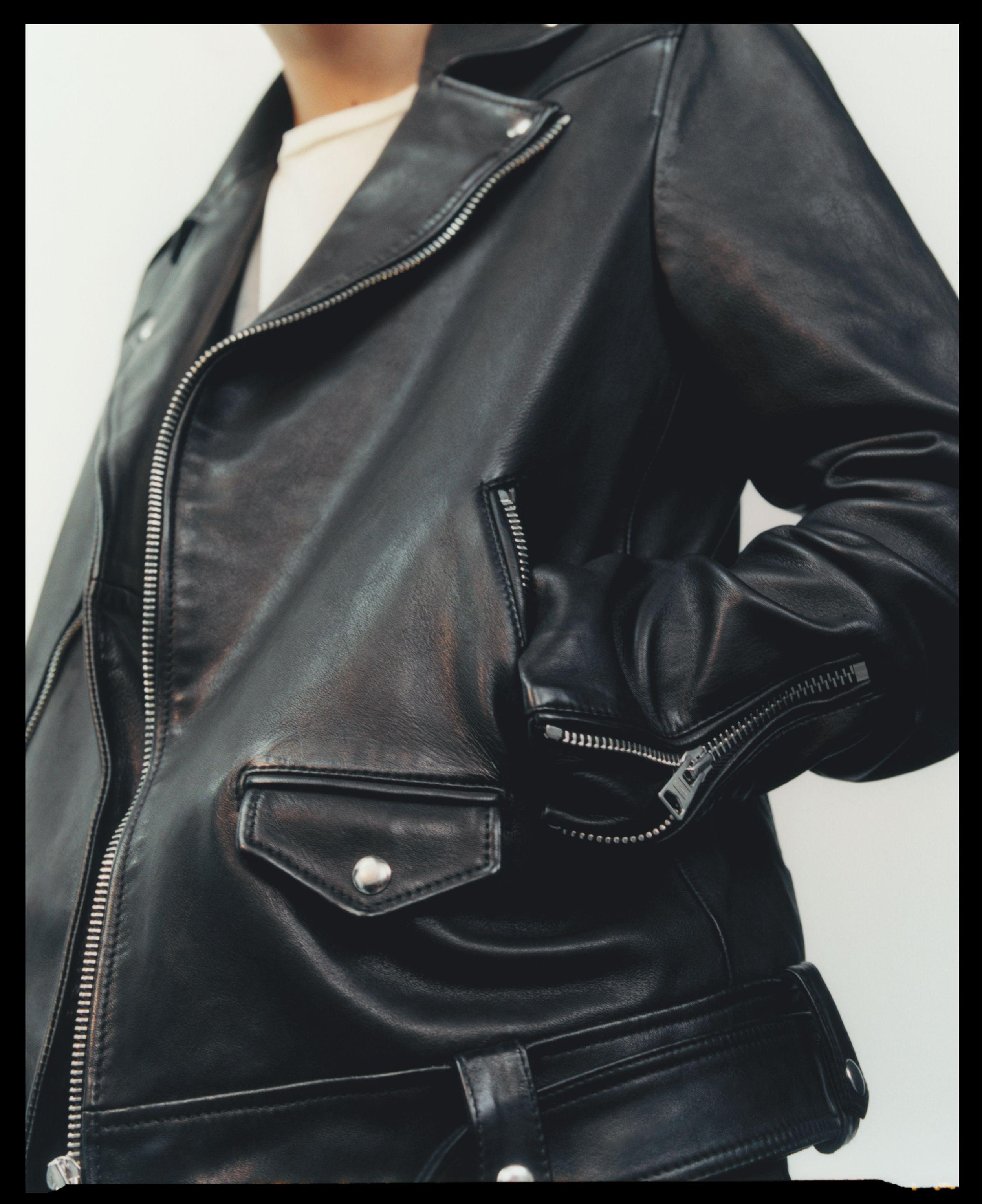 Allsaints Manor Biker Leather Jacket Leather Jacket Men Real Leather Jacket [ 3065 x 2500 Pixel ]