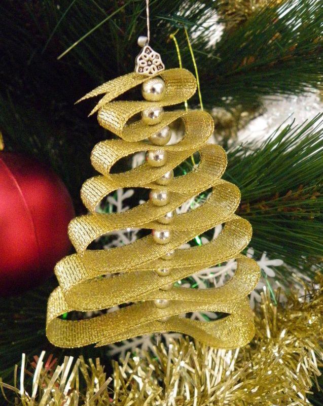 Ribbon Christmas Tree Ornaments Diy Christmas Tree Ornaments Christmas Tree Decorations Diy Ornaments Ribbon On Christmas Tree