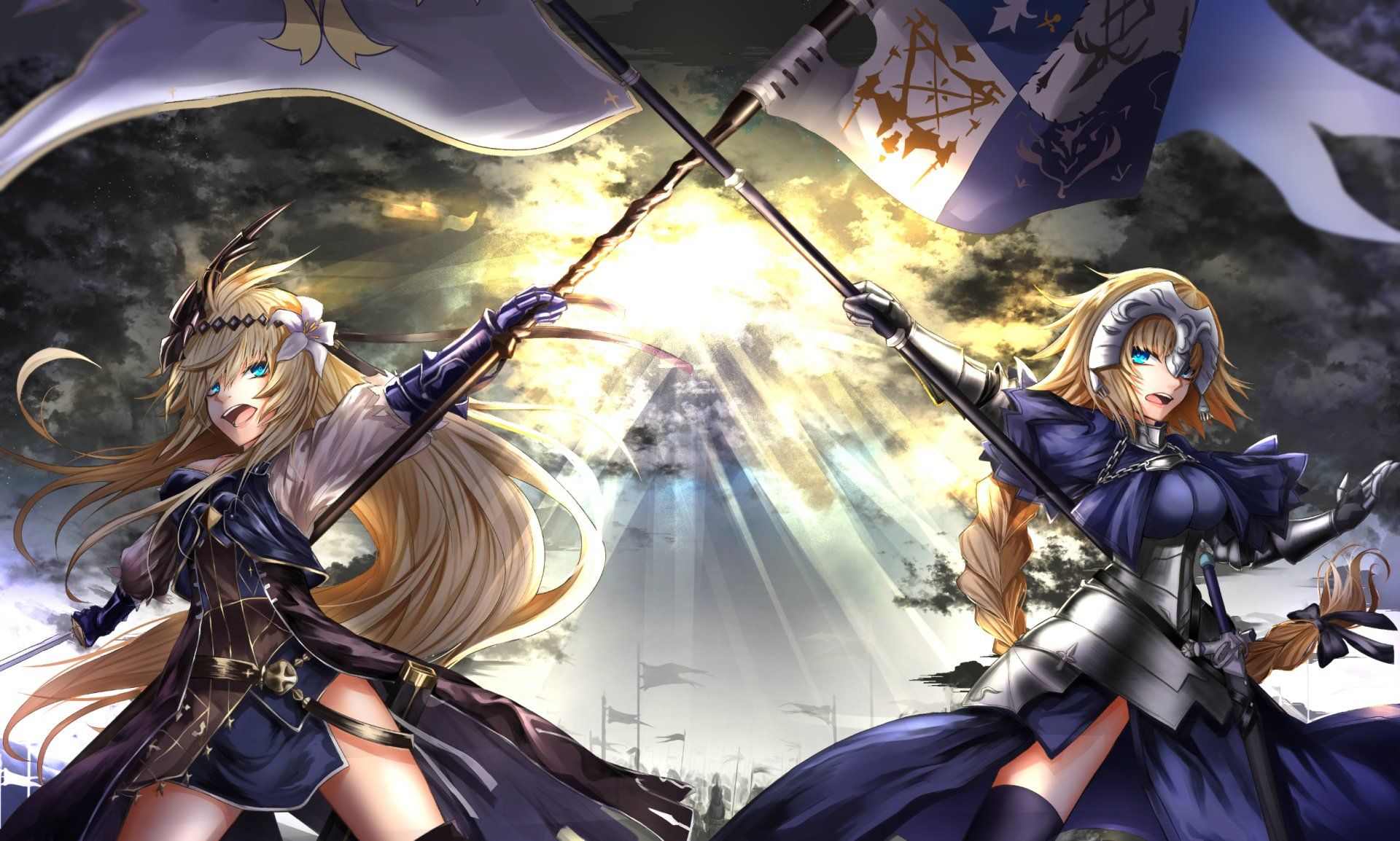 Anime Crossover Fate Apocrypha Granblue Fantasy Jeanne D Arc Jeanne D Arc Granblue Fantasy Ruler Fate Apocrypha Wallpap Anime Anime Crossover Anime Images