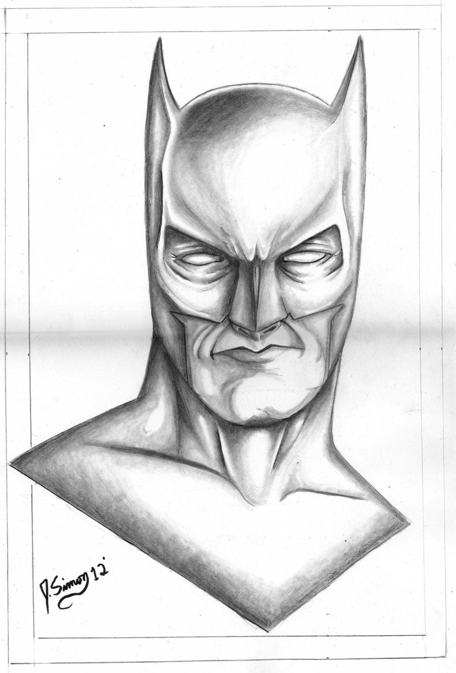 Batman drawings in pencil batman pencil drawing by for Pencil sketch ideas