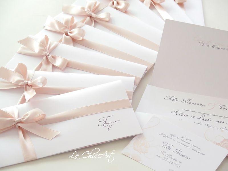Wedding In Rosa Cipria Partecipazioni Nozze Matrimonio Inviti Di Nozze Rosa