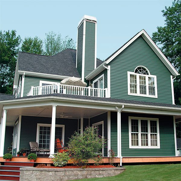 Green siding home pics vinyl siding is a very popular for Popular vinyl siding colors