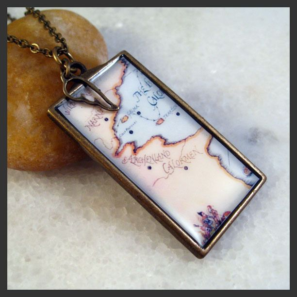 """""""Ancient Map Charm"""" on Ebay.  It's Narnia.  An ancient map of Narnia.  ;)"""
